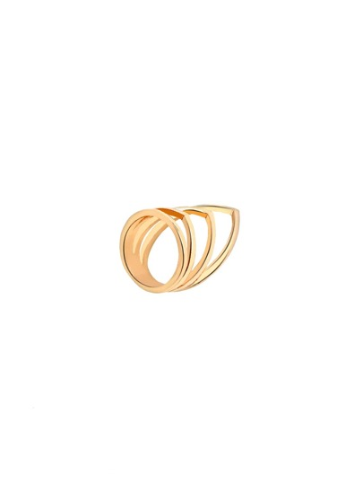 Gold Plated Cutout Ring
