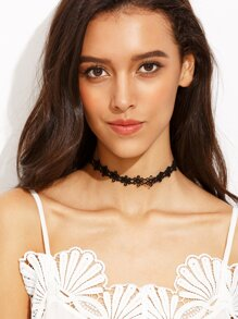 Cutout Flower Choker