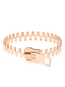 Gold High Polished Zip Bangle