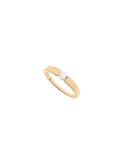Simple Gold Rhinestone Ring