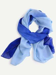 Blue Ombre Chiffon Scarf