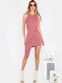 Knotted Tank Dress PINK