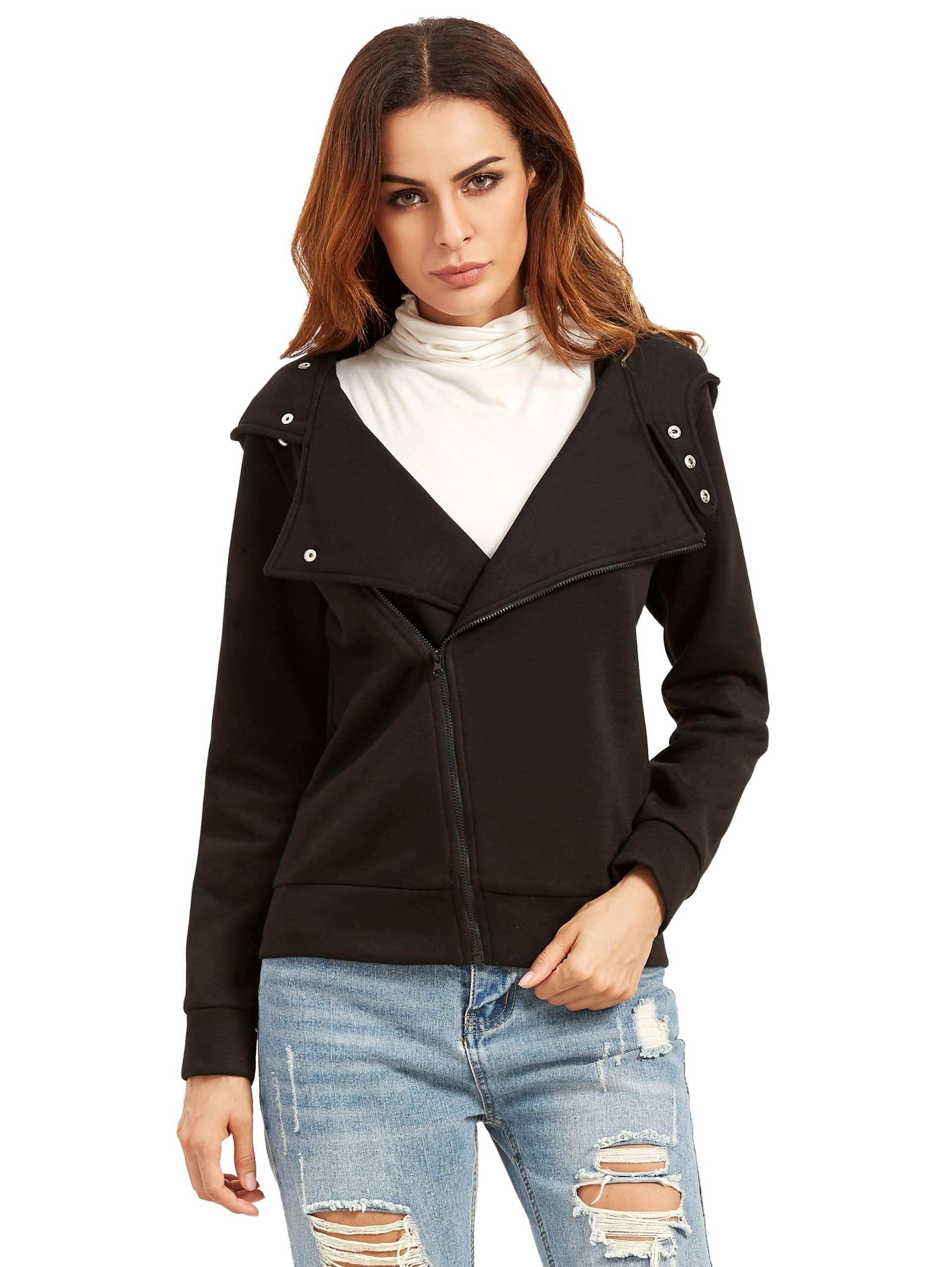 Фото Slim fit Zip-up Hoodie Jacket. Купить с доставкой