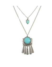 Double Layers Turquoise Necklace