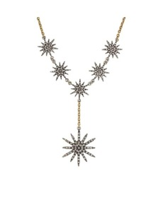 Rhinestone Snowflake Necklace