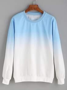 Blue Ombre Pullover Sweatshirt