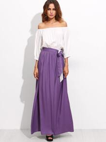 Color Block Tie Waist Convertible Maxi Dress
