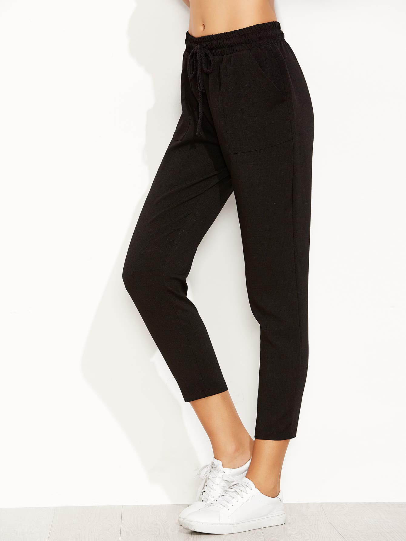 Image of Cropped Pants With Pockets