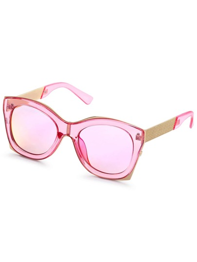 Metal Trim Bold Frame Sunglasses