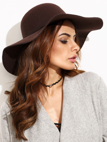 Coffee Vintage Large Brimmed Hat