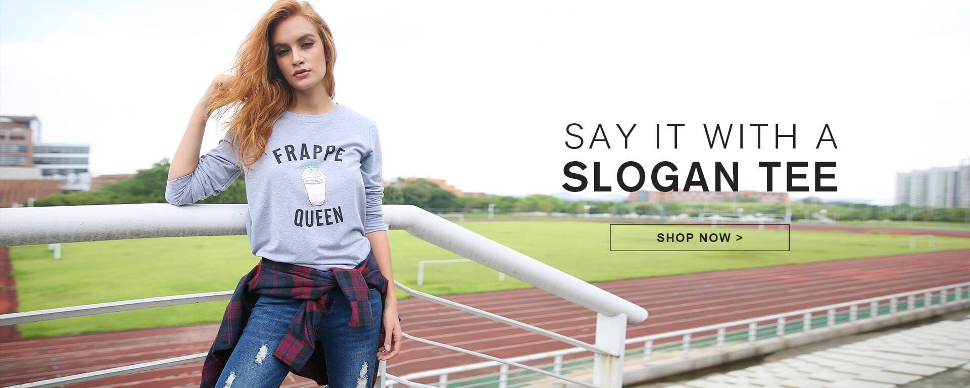 SAY IT WITH A SLOGAN TEE
