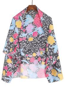 Kimono imprimé floral - multicolore