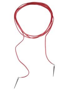 Ras de cou en suédine avec pointe - rouge