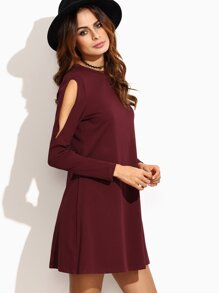 Open Shoulder Swing Dress