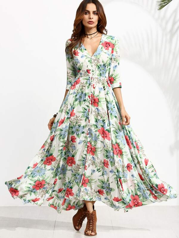 Kleid blumen druck