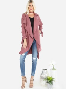Crepe Waterfall Jacket DARK BERRY