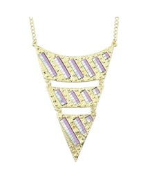 Purple Triangle Pendant Necklace