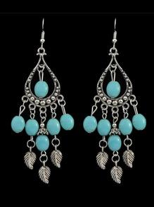Vintage Imitation Turquoise Beads Chandelier Earrings