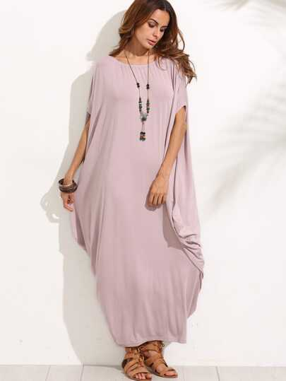 Dolman Sleeve Cocoon Dress