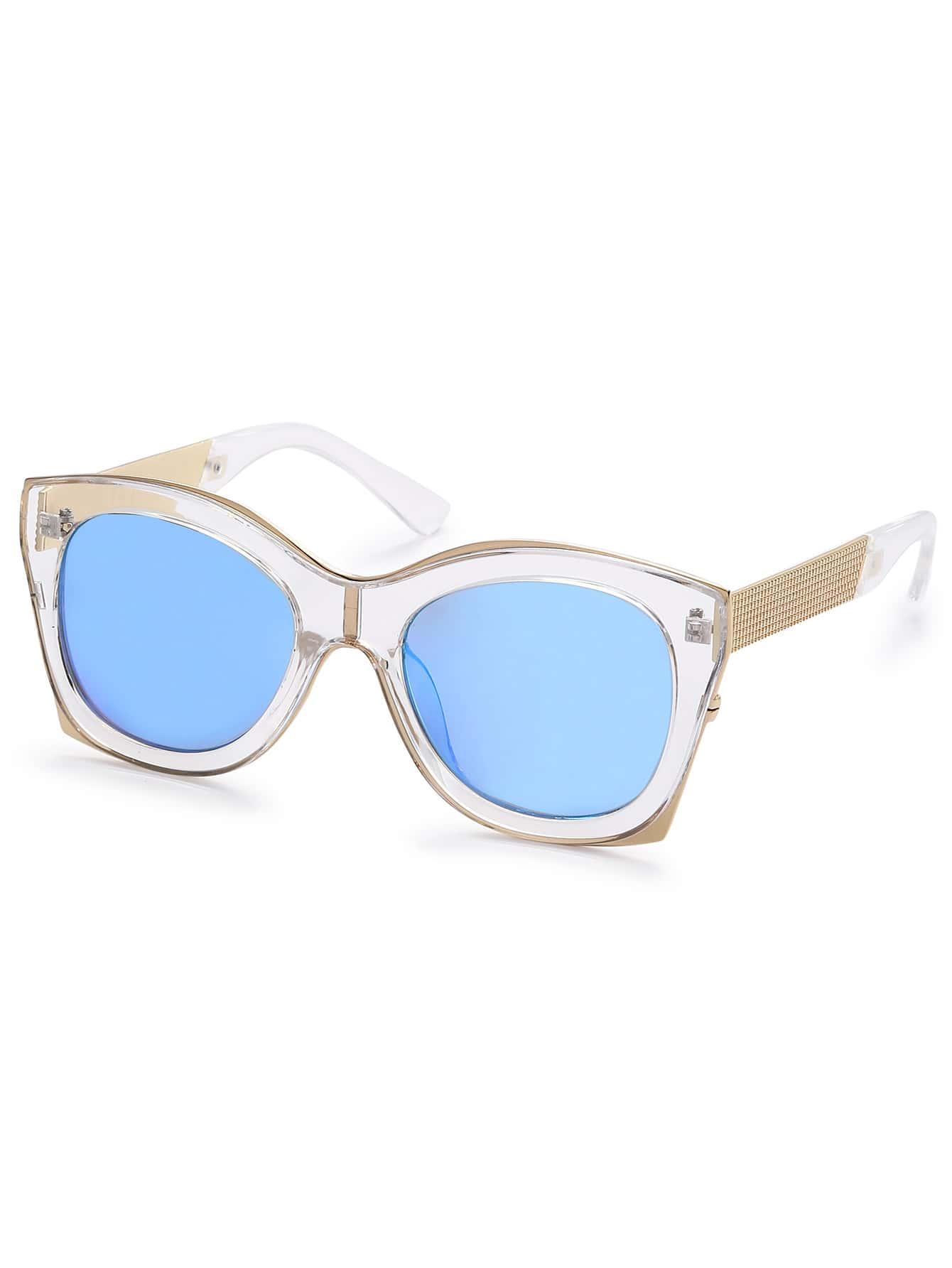 Clear Frame Blue Lens Sunglasses sunglass160811304