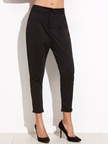 Cuffed Tapered Leg Pants