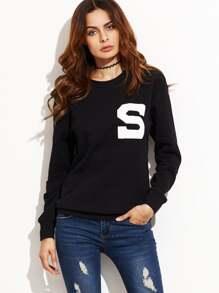 Letter Print Drop Shoulder Sweatshirt