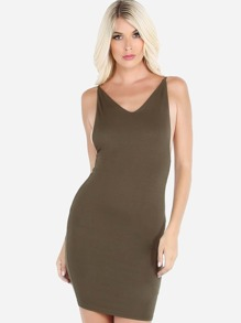 Low Back Cami Dress OLIVE