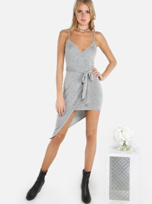 Wrap Me Up Dress GRAY