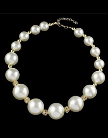 Simple Big Pearl Necklace