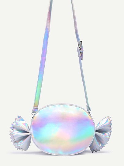 Iridescent Candy Shaped Crossbody Bag