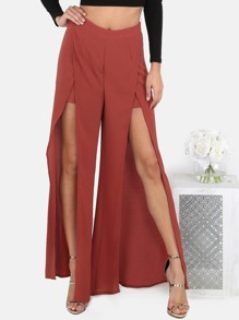Maxi Split Pants RUST