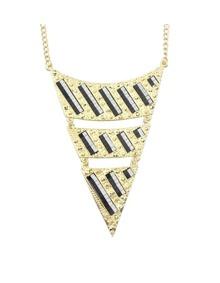 Black Triangle Pendant Necklace