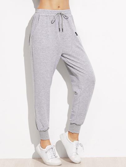 Pantalons en patch avec lacet