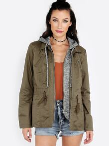 Hooded Anorak Jacket OLIVE