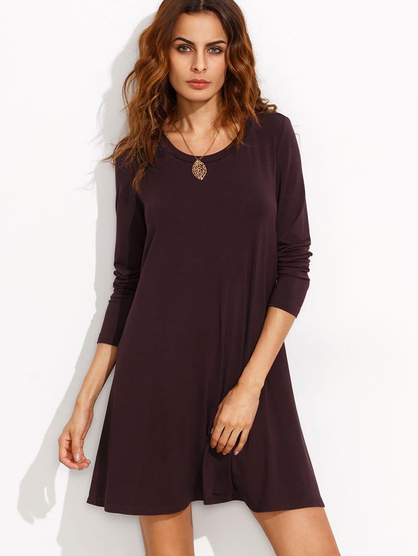 57dc5786cfe8 White Long Sleeve Loose Shirt Dress - Latest Fashion   In-Style ...