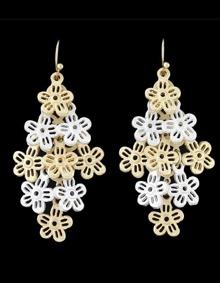 Flower Shape Hanging Drop Earrings