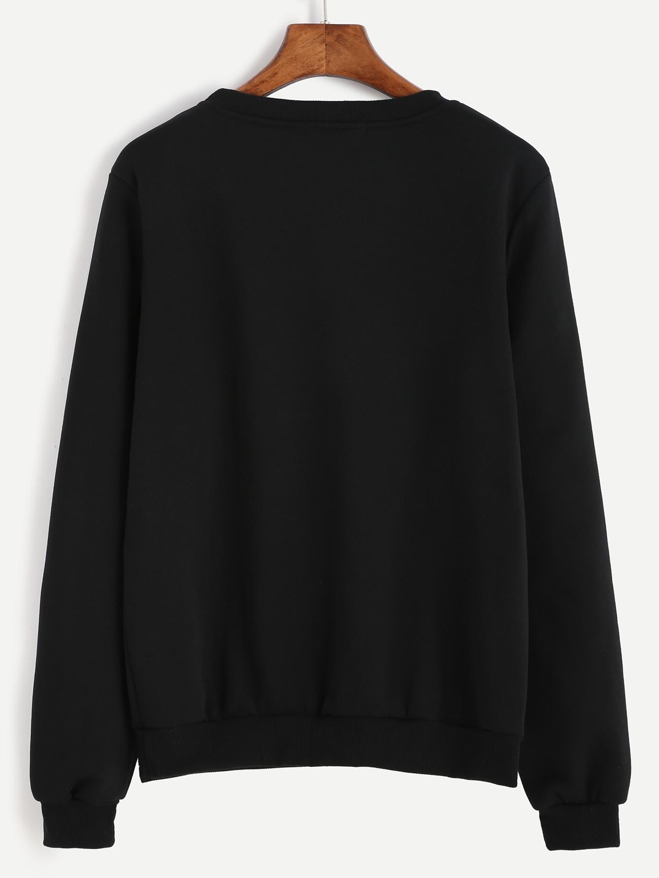 Crew Neck Letter Print Sweatshirt