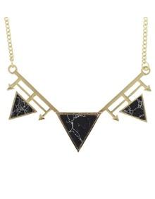 Black Turquoise Triangle Pendant Necklace