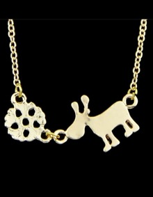 Gold Plated Animal Shape Necklace