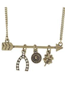 Arrow Flower Pendant Necklace For Women