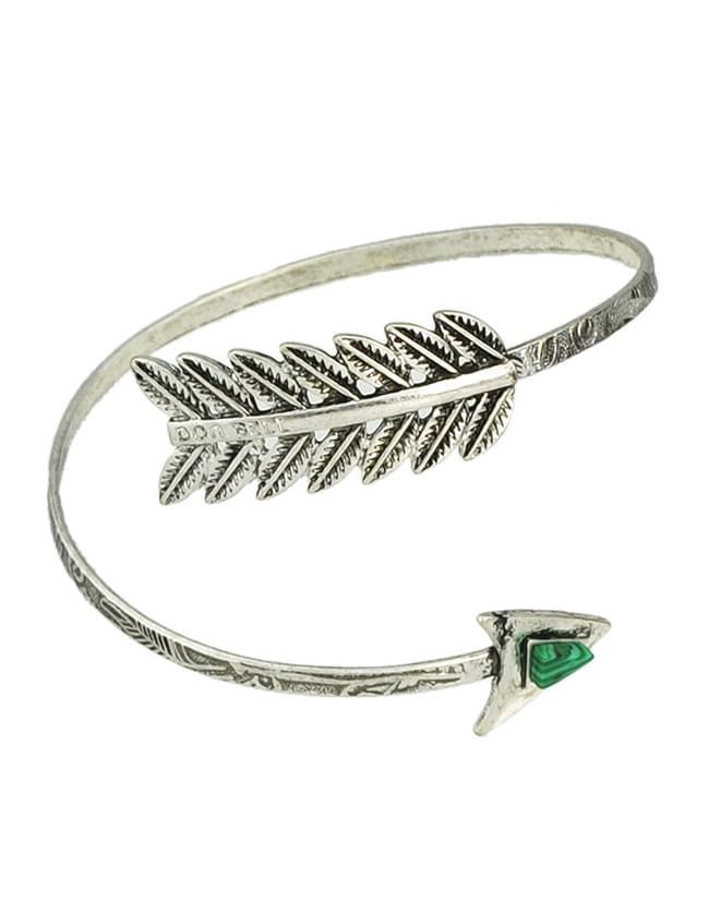 Leaf Shape Open Arm Bracelet