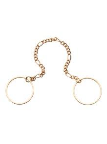 Gold 2PCS Mini Circle Rings