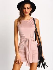 Apricot Sleeveless Bodycon Dress