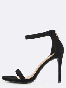 Classic Single Sole Heels BLACK