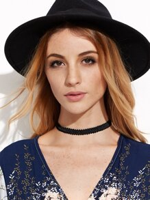 Black Basic Elastic Choker Necklace
