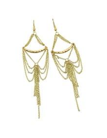 Gold Long Drop Earrings