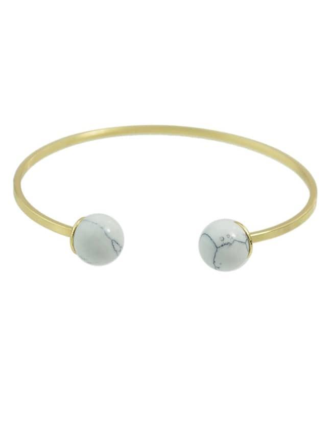 Фото Gold Plated Turquoise Cuff Bracelet. Купить с доставкой