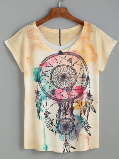Yellow Pendant Print T-shirt