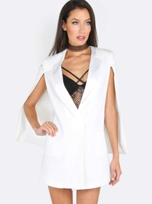 Vested Cape Blazer WHITE