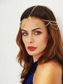 Gold Multi Chain Hair Accessory